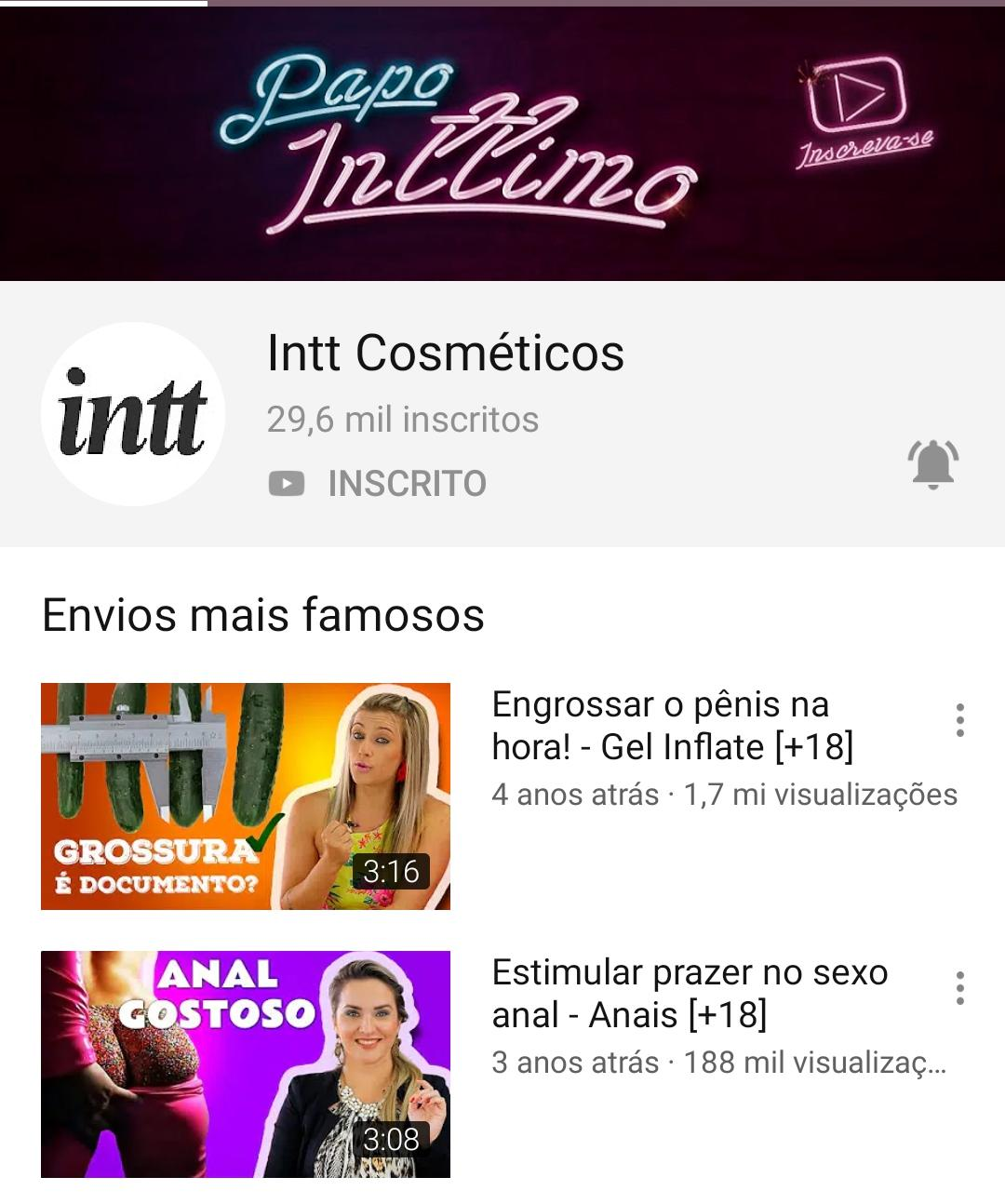 Canal Papo Intimo<br>Intt Cosmeticos
